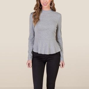 Mia Turtleneck Peplum Tee
